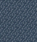 Quilter\u0027s Showcase Cotton Fabric 44\u0022-Navy Gray Ditsy Floral