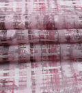 Silky Chiffon Fabric 57\u0022-Mauve Abstract Plaid