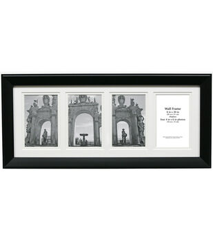 Multi-Opening Collage Frame with 4 Openings 8''x20''-Black