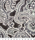 Waverly Upholstery Décor Fabric 9\u0022x9\u0022 Swatch-Artesanias Ikat Graphite