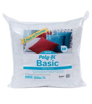 Poly-Fil Basic 2 pk 20''x20'' Pillow Inserts
