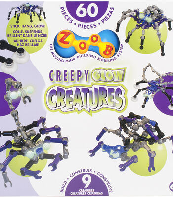 ZOOB Pieces 60 Pack-Creepy Glow Creatures