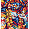 RTO Diamond Mosaic Embroidery Kit 40X50cm-Beautiful Indian Woman