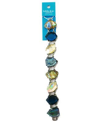 hildie & jo 7'' Pentagon Shaped Metal Strung Beads-Multi