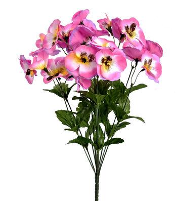 Fresh Picked Spring 19'' Pansy Bush-Violet