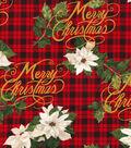 Christmas Cotton Fabric 44\u0022-Merry Christmas Plaid
