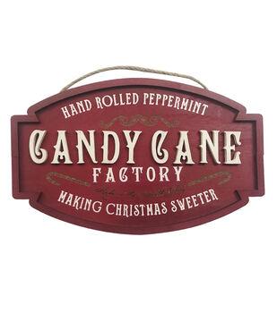 Handmade Holiday Christmas Wall Decor-Candy Cane Factory