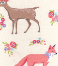 Snuggle Flannel Fabric 42\u0022-Sweet Forest Creatures