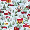 Christmas Cotton Fabric-Christmas Neighborhood