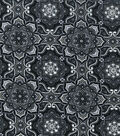 Keepsake Calico Cotton Fabric 43\u0022-Medallion Black