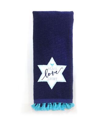 Hanukkah 16''x28'' Kitchen Towel-Peace Love Light