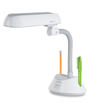 OttLite 13w Table Lamp-White/Grey