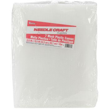"""Plastic Canvas 7 Count 10.5""""X13.5"""" 12/Pkg-Clear"""