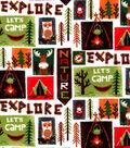 Snuggle Flannel Fabric-Explore Patch
