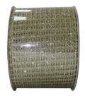 Decorative Ribbon 2.5\u0027\u0027 X 15\u0027-Gold Glitter Net