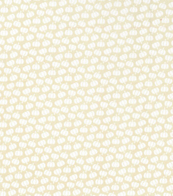 Harvest Cotton Fabric-Mini Tossed Pumpkins on Cream