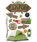 Paper House 4.5\u0027\u0027x8.5\u0027\u0027 3D Stickers-Lets Go Camping