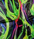 Performance Fabric-Swirl Silver Foil Green