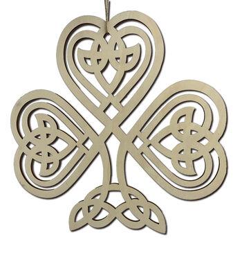 St. Patrick's Day Craft Unfinished Wood Celtic Shamrock