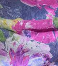 Gianna Silk Blend Double Jacquard Print Fabric 53\u0022-Watercolor Rose