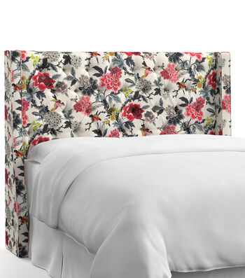 Skyline Furniture Tufted Wingback Headboard-Queen