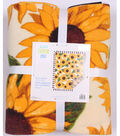 No Sew Fleece Throw 72\u0022-Sunflowers