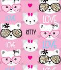 Anti-Pill Fleece Fabric 58\u0022-Kitty Love