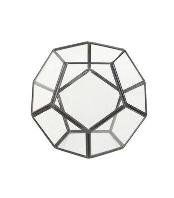 Bloom Room Metal & Glass Terrarium Container-Black