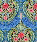 Dena Upholstery 8x8 Fabric Swatch-Mural Floal/Fiesta