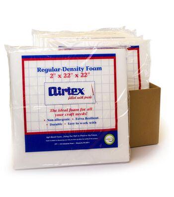 "Airtex Case Of 6 Regular Density Chair Pad-22""x22""x2"""