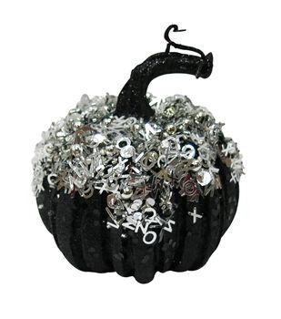 Maker's Halloween X-Small Black Silver Pumpkin