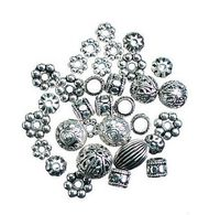 Darice Big Value! Cast Spacer Beads-40PK/Silver, , hi-res