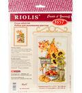 RIOLIS 7.75\u0027\u0027x11.75\u0027\u0027 Counted Cross Stitch Kit-Autumn Cottage