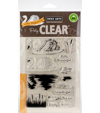 Hero Arts 16 pk Color Layering Clear Stamps-Swan