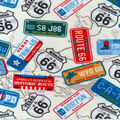 Snuggle Flannel Fabric -State License Plates