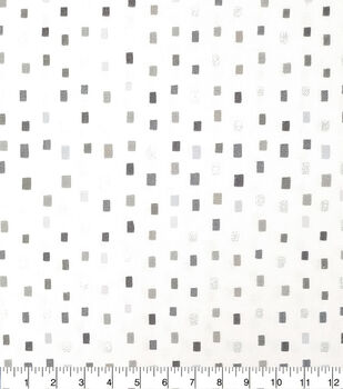Keepsake Calico Cotton Fabric-Gray Multi Square