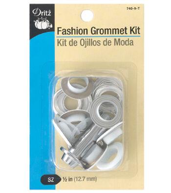 """Dritz 1/2"""" Fashion Grommet Kit-White"""