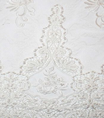 Gianna Beaded Embroidery on Lace Fabric 52""