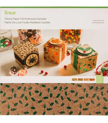 Cricut Deluxe Paper Foil Embossed Sampler-Kraft Seasonal