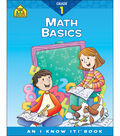 School Zone Curriculum Workbooks-Math Basics Grade 1