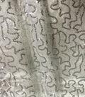 Sew Sweet Sequin on Satin Fabric 44\u0027\u0027-Silver on White