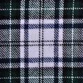 Flannel Shirting Fabric -Navy, Green & White Plaid