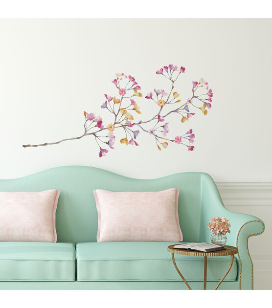 York Wallcoverings Wall Decals Pastel Flowers Branch, , hi-res, image 3