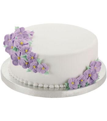 """Wilton Cake Base 10"""" 2/Pkg-Round Silver"""