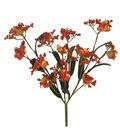 Blooming Autumn Gypsophilia Bush-Orange