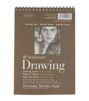 "Strathmore Drawing Medium Paper Pad 6""X8""-80lb 24 Sheets, , hi-res"