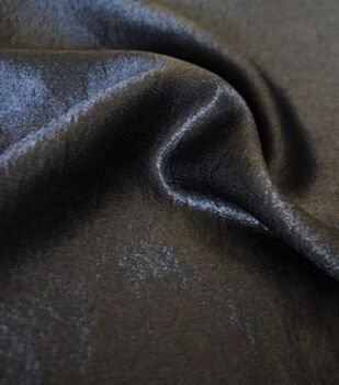 "Casa Collection Crushed Satin Fabric 54""-Black"