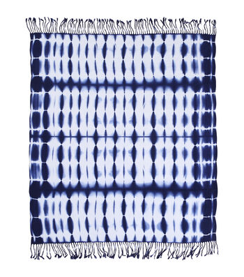 Indigo Mist  Shibori Throw