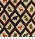 Snuggle Flannel Fabric 42\u0027\u0027-Autumn Animals & Aztec