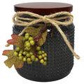 Simply Autumn 4\u0027\u0027x4.25\u0027\u0027 Cashmere Sweater Jar Candle with Berries